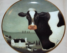 Cow Country, Franklin Mint collectible plate by artist Lowell Herrero, limited edition fine porcelain, wk 2