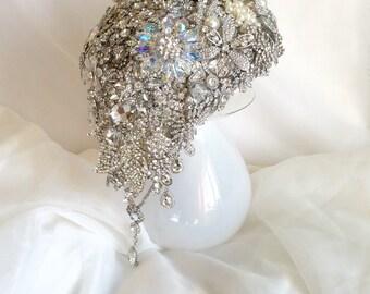 Wedding bouquet crystal