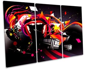 Digital Graffiti Modern Urban Treble CANVAS WALL ART Box Framed Print