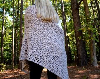 Checkered Crocheted Blanket