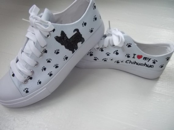Hand Painted Canvas Dog Shoes