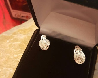 Filigree Handmade stud earrings  from Mompox Colombia !!! 30% DISCOUNT ALL ITEMS!!