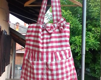 red and white diaper bag
