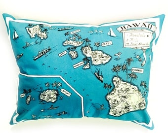 Hawaii State Pillow Cover with Insert