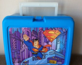Superman, Lunch box, (no thermo), vintage 1996