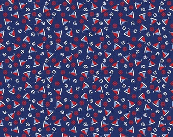 Riley Blake    Penny Rose Fabrics - Toy Chest - Sailboats blue