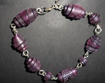 Glittery polymer bracelet