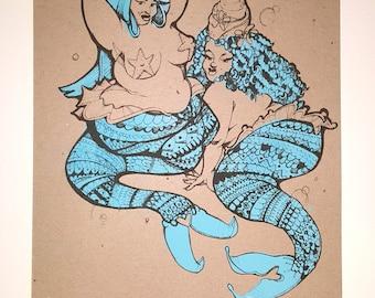Overlie - Hand-Pulled Silkscreen Print - Original Design by Sugar Pop Press