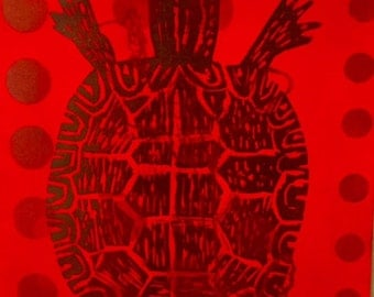 Home Decor - Art - Print Titled:  Turtle