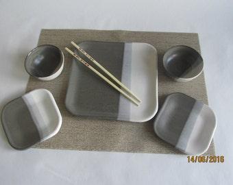 Pottery Sushi Set