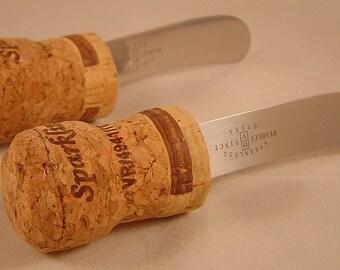 Wine Cork Cheese Spreader Set