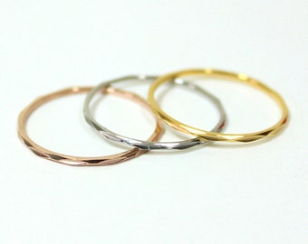 3 in 1 Ring With Gold, Rose Gold and Silver - Simple and Cute