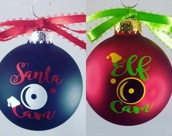 Santa Cam Ornament-Santa Spy Camera-Elf Cam-Elf Spy Camera-Funny Christmas Ornament-Christmas Ornament-Santa's Helper-New Family Tradition