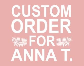 Custom Stamp Order for Anna T.