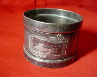 Edwardian Silver Plate Napkin Ring Aesthetic Movement MAY