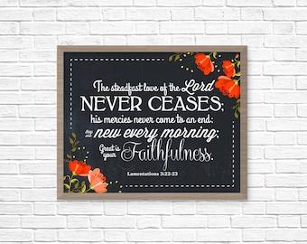 Lamentations 3:22-23, 21x17