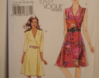 UNCUT Very Easy Vogue dress pattern no V8646 Size 14-22 Custom fit for ABCD cup sizes