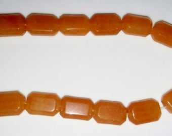 Carnelian beads rectangle beads faceted beads 10x15mm beads orange stone beads semiprecious stone semiprecious beads carnelian