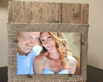 Reclaimed barn board picture frame