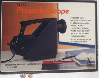 Vintage Slide Projector, Projecta Scope, Shows easy on any white wall, Vintage Photography for Slides, Vintage Projector for Slides, Photos