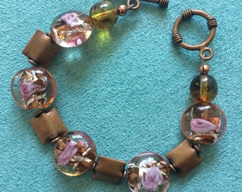 Handmade Bracelet / Beaded Bracelet / Copper Bracelet / One of a Kind Bracelet