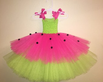Watermelon Tutu Dress Plus Matching Headband.  10% Off For All New Customers. Use Coupon Code NEW10 @ Checkout.