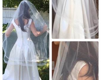 Fingertip Length Veil