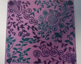 Purple Vines Pattern