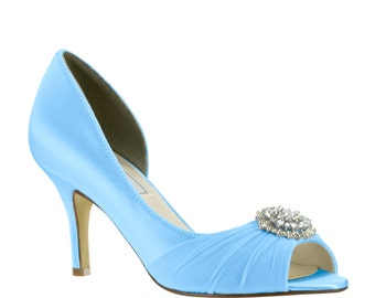Blue Wedding Shoes, Blue Bridesmaids Shoes, Bridal Shoes