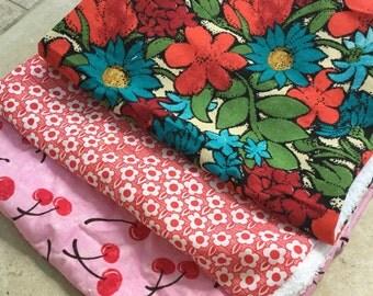 Girl's burp cloth bundle
