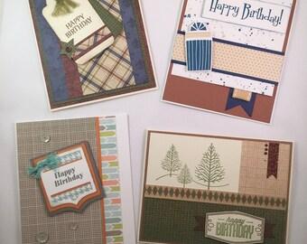 Handmade Birthday Cards, Handmade Greeting Cards, Birthday Card assortment, Birthday Cards