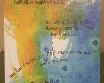 True Love 11X14 canvas