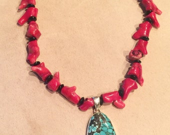 Western turquoise piece with coral