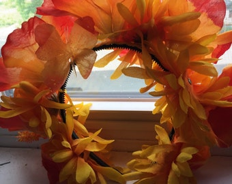 Hawaiian Flower Crown Lava Inspired