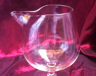 Vintage Large Crystal Clear Glass Brandy Snuffer