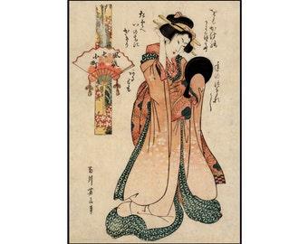 Japanese Beauty Print - Woman Digital Print - Vintage Beauty Print - Woman - Japanese Vintage - Woodcut Print - Ukiyo-e - Digital Download