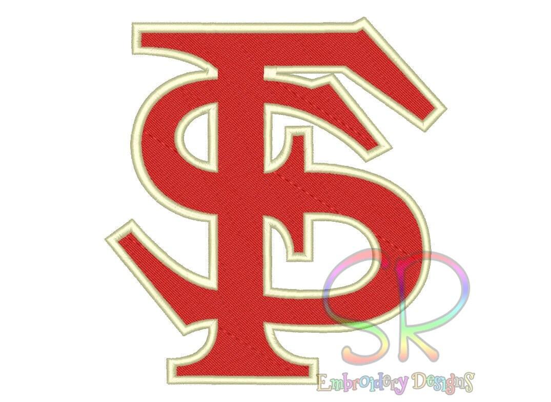 Size florida state seminoles embroidery designs college