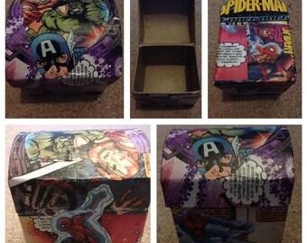 Children's Marvel Decoupage Storage Keepsake Little Box