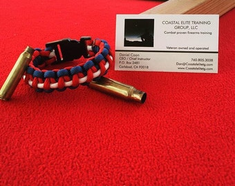 Three color paracord bracelet