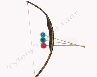 Real Tree Camouflage PVC Bow and Arrow Set, 1 Bow & 3 Arrows