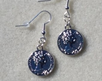 "Coin Earrings, Silver-toned Dangling ""Coin"" Earrings"