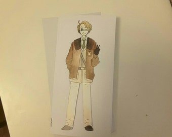 America - Hetalia Handmade Greetings Card - Happy Birthday - Well Done - Thank You - Friend Card - Blank