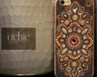 Moroccan iPhone 6 Plus Case - Handmade - Pink-Bling Samsung S7 Case - Cell Phone Case - S6 - Luxury Phone Case - Smartphone