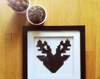 Deer antlers in the 3D picture frame