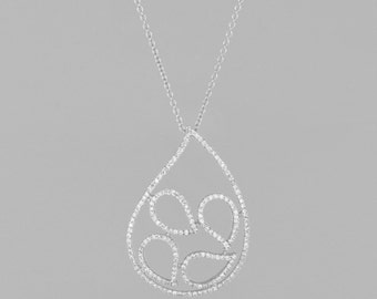 necklace of gold white 14 k diamonds 1.30 CT