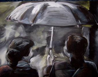 Rainy Days- Acrylic on Canvas, 3ft x 4ft