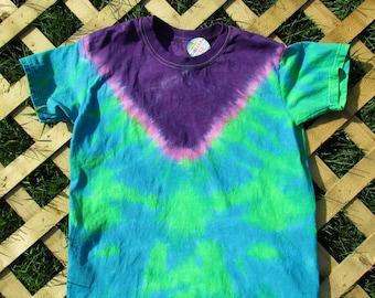 Purple V Kids Tie Dye (Large)