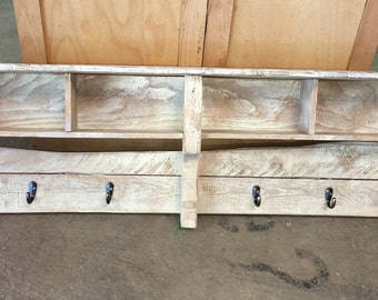 Rustic Pallet Shelf with Conpartments