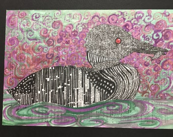 Red Eyed Loon