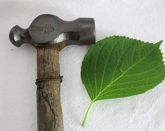 Original vintage hammer with handle